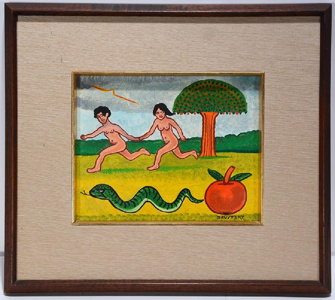 Jack Savitsky. Adam and Eve.