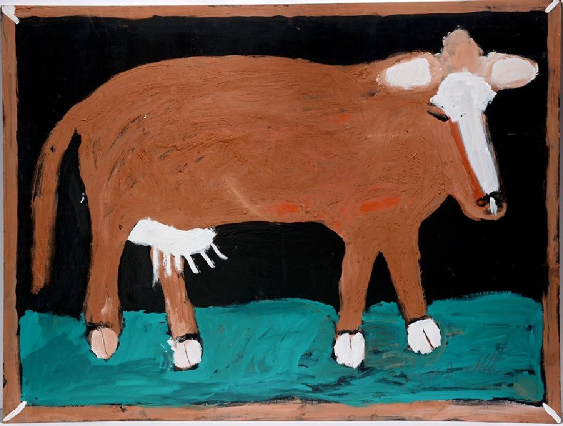 Jimmy Lee Sudduth. Big Brown Cow.