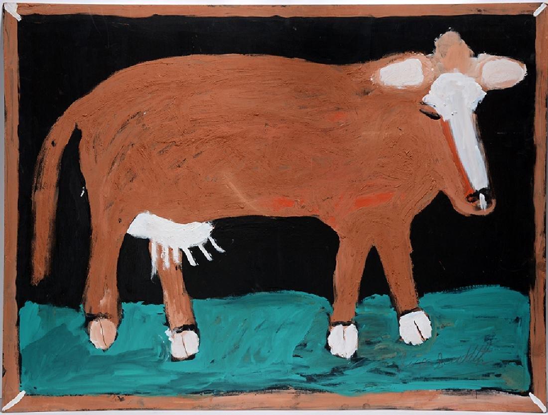 Jimmy Lee Sudduth. Big Brown Cow. - 2