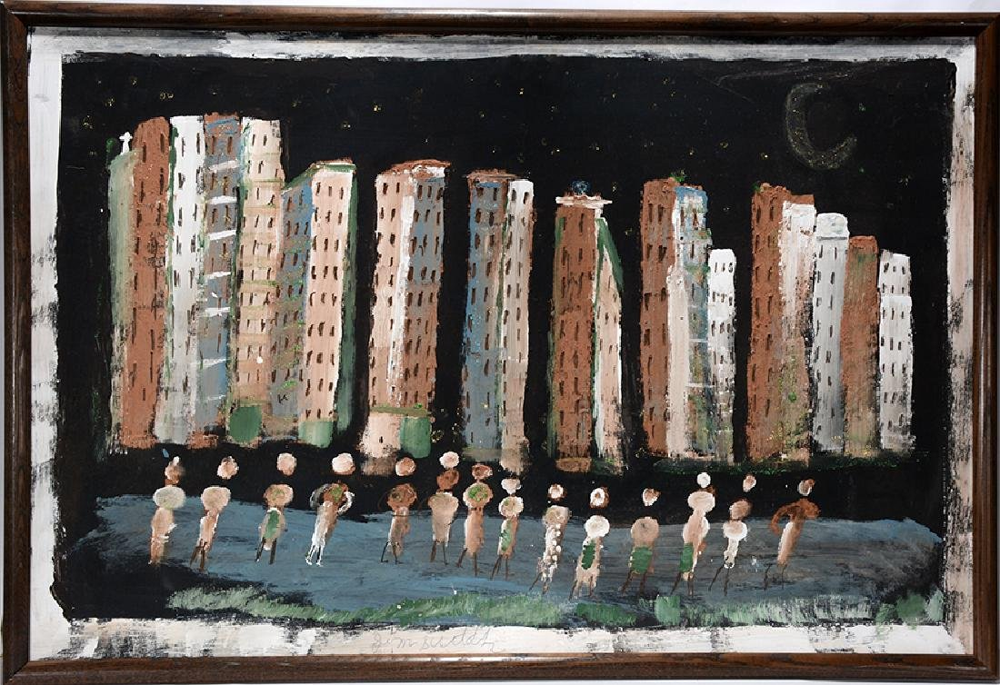 Jimmy Lee Sudduth. New York Skyline By The Water.