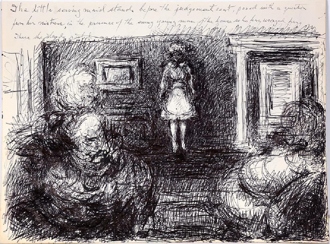 Malcolm McKesson. Little Serving Maid Before Judgement.