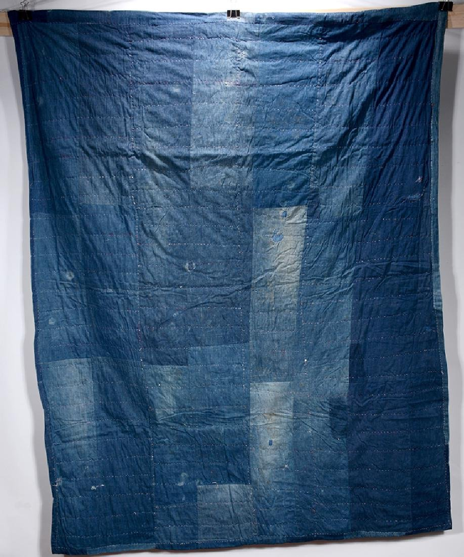 Double-Sided Heavy Blue Jean Quilt.