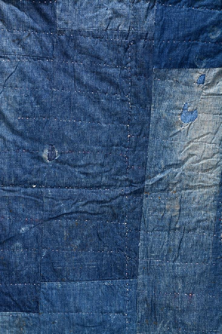 Double-Sided Heavy Blue Jean Quilt. - 2