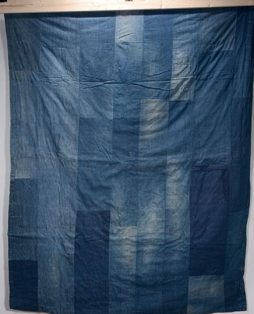 Double-Sided Heavy Blue Jean Quilt. - 3