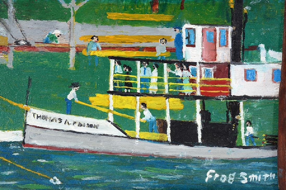 Frog Smith. Florida Logging Mill With Boats. - 2
