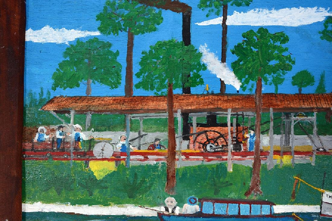 Frog Smith. Florida Logging Mill With Boats. - 3