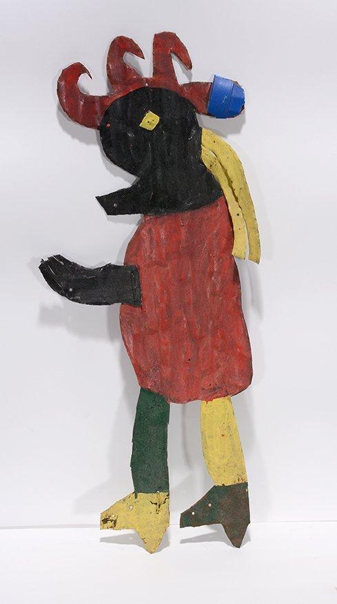 David Butler. Figure In Red Dress.
