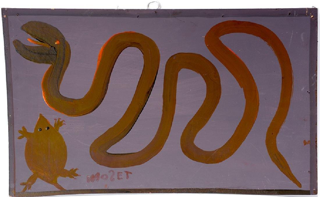 Mose Tolliver. Snake On Purple.
