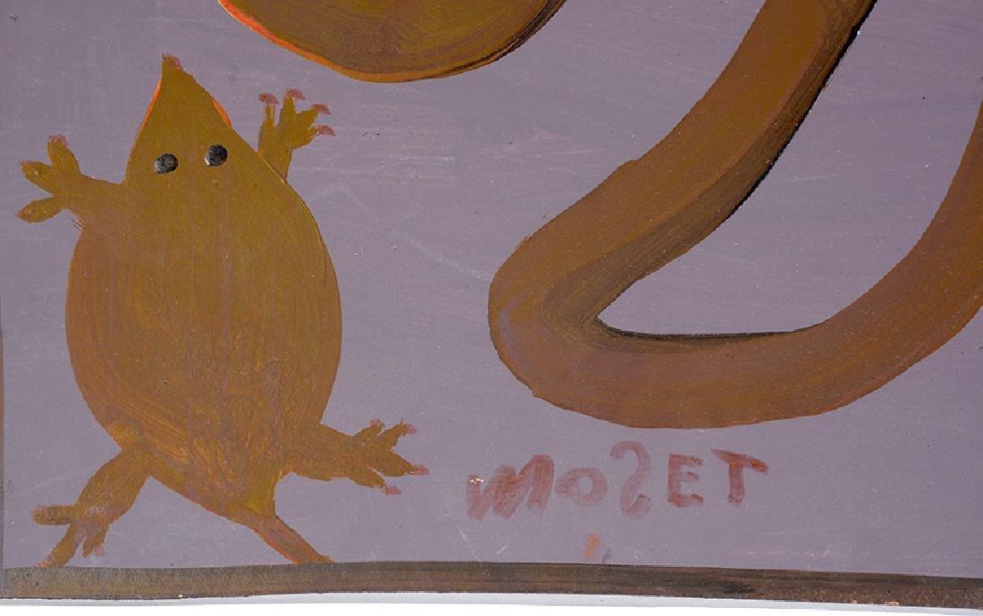 Mose Tolliver. Snake On Purple. - 2