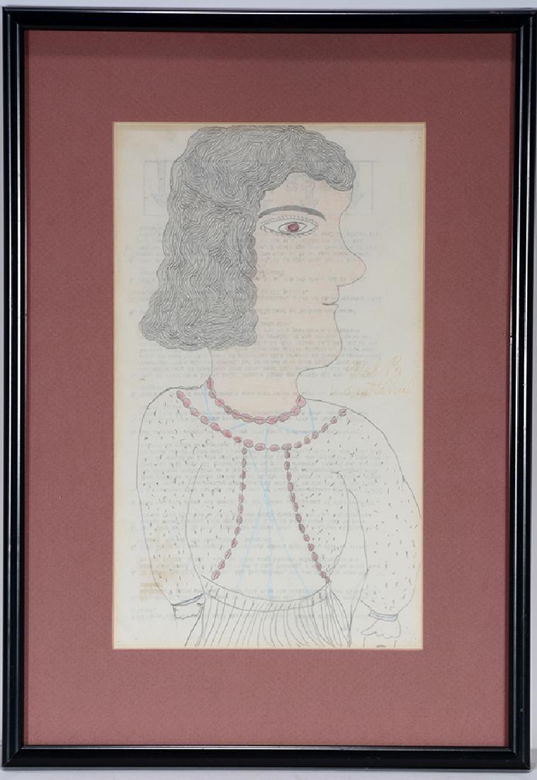 Inez Nathaniel Walker. Portrait On Prison Paper.