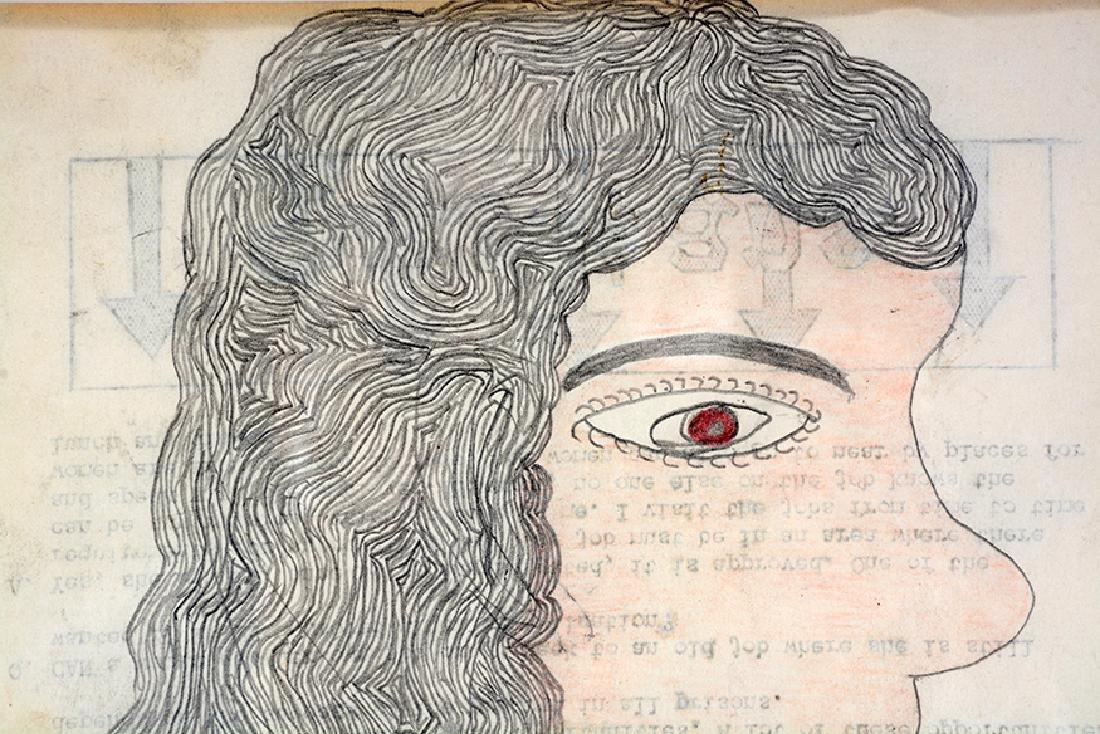 Inez Nathaniel Walker. Portrait On Prison Paper. - 2