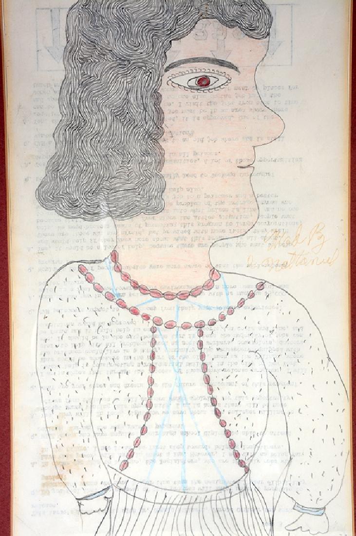 Inez Nathaniel Walker. Portrait On Prison Paper. - 3