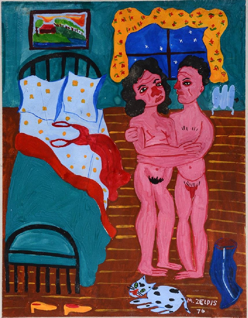 Malcah Zeldis. Nude Couple.