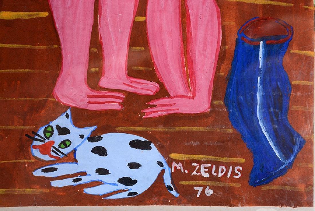 Malcah Zeldis. Nude Couple. - 3