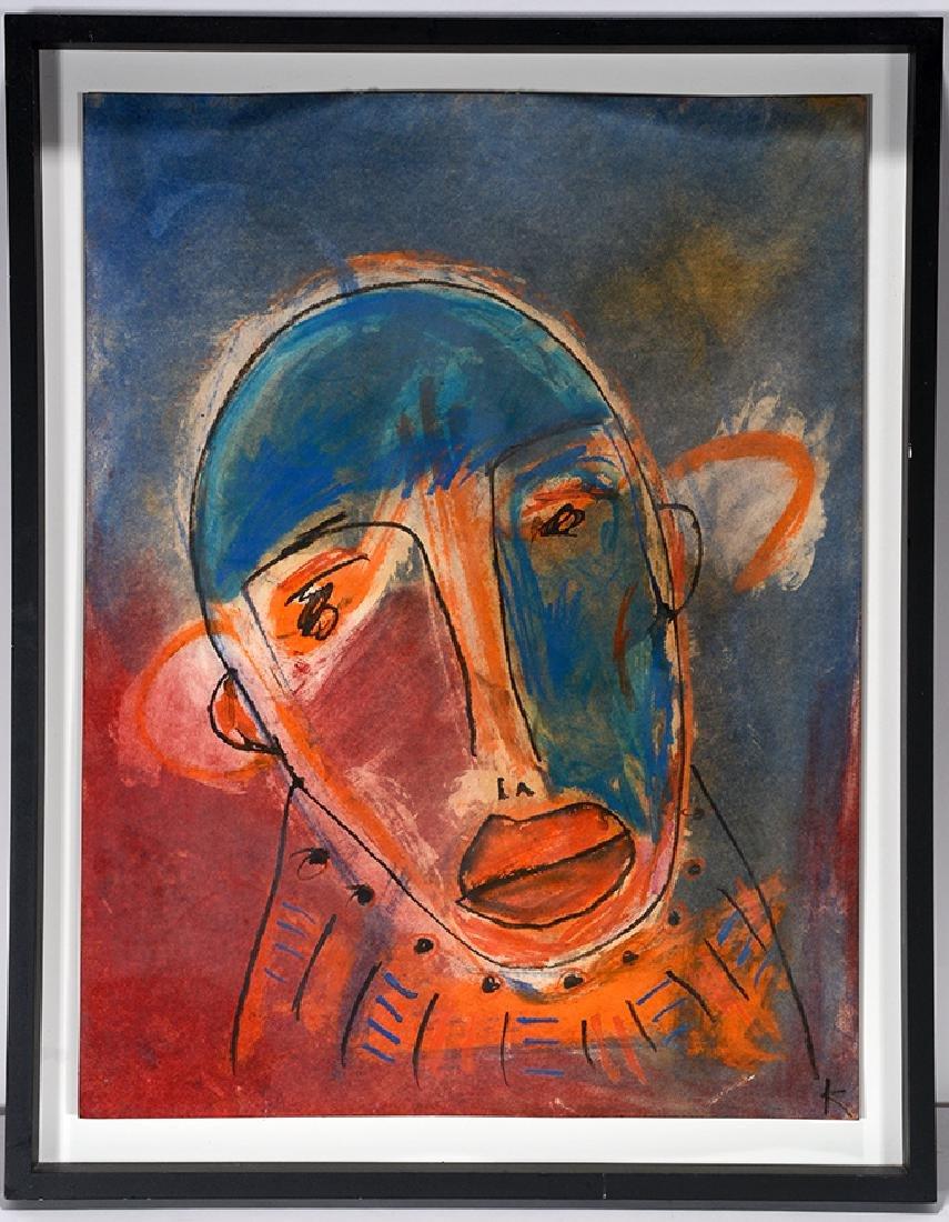 Karl Mullen. Blue & Red Face.
