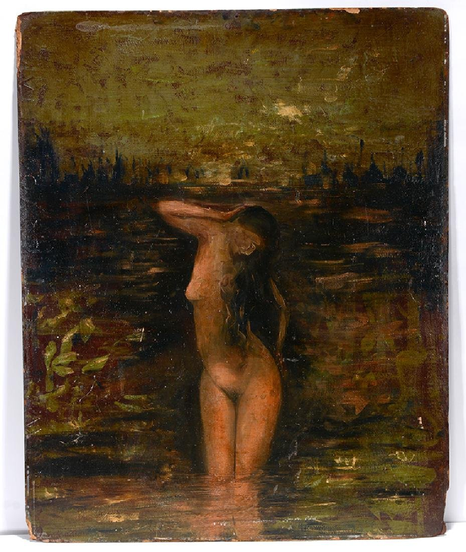 Anonymous Nude In The Water.