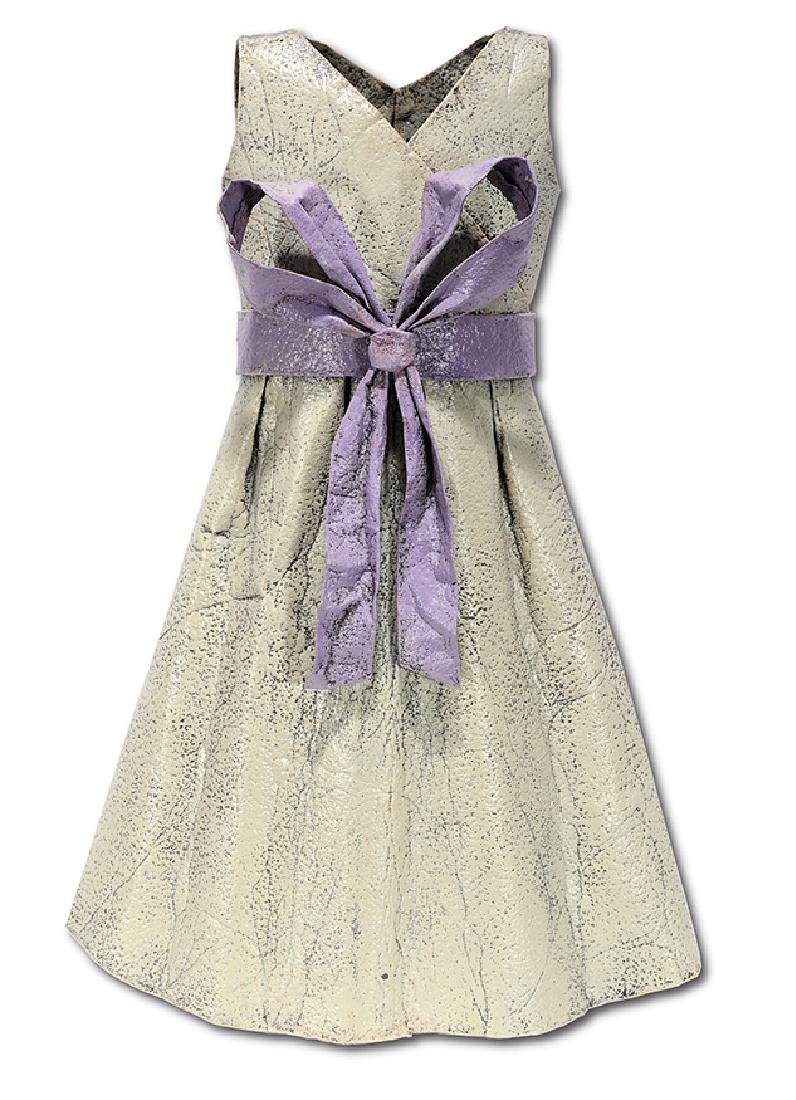 Chris Beck. Summer Dress With Purple Bow.
