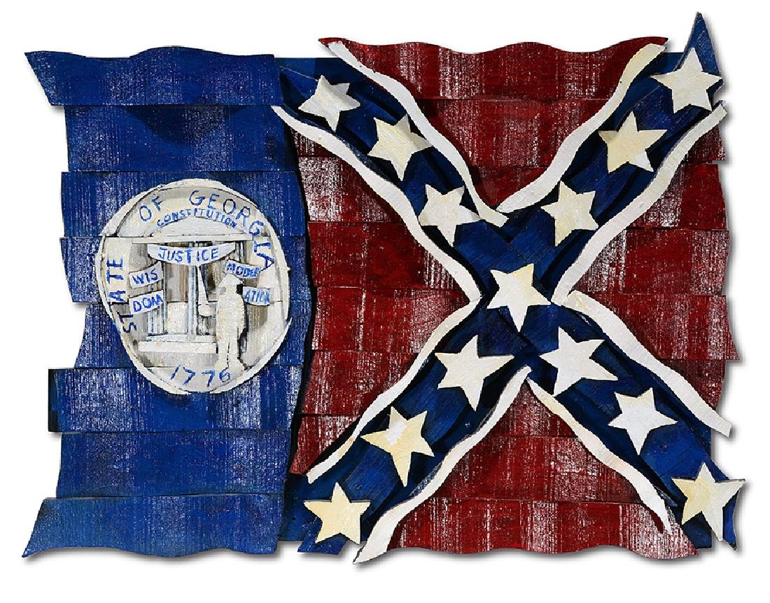Ab The Flagman. 1980 Georgia State Flag.