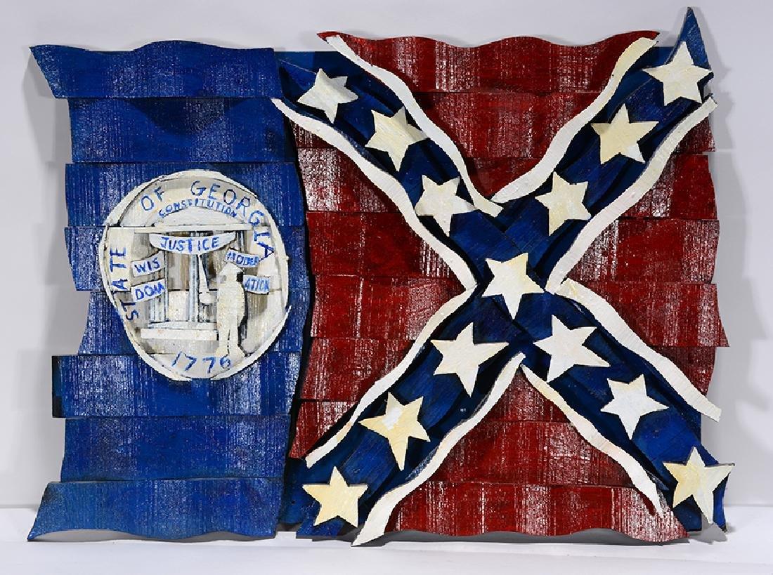 Ab The Flagman. 1980 Georgia State Flag. - 2