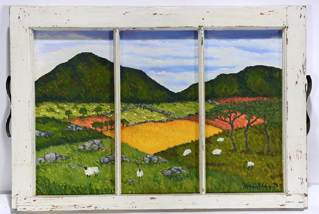 Mary Klein. Sheep In the Grassy Meadows.