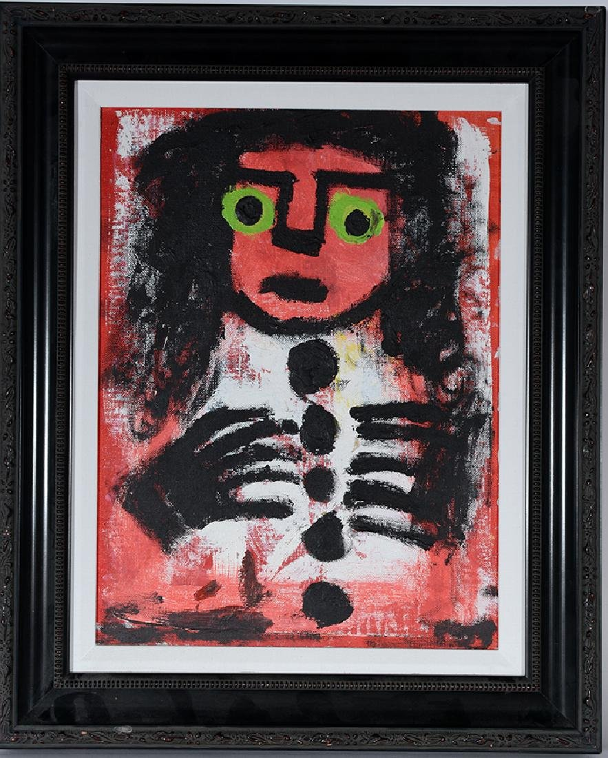 Eddy Mumma. Red Face With Green Eyes.