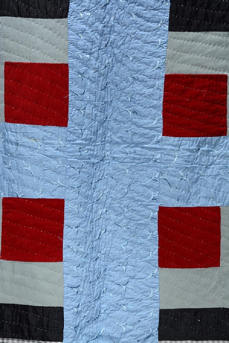 Anonymous Big Blue Cross Quilt. - 3