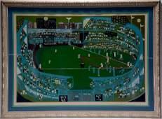 Ralph Fasanella. New York Baseball Game.