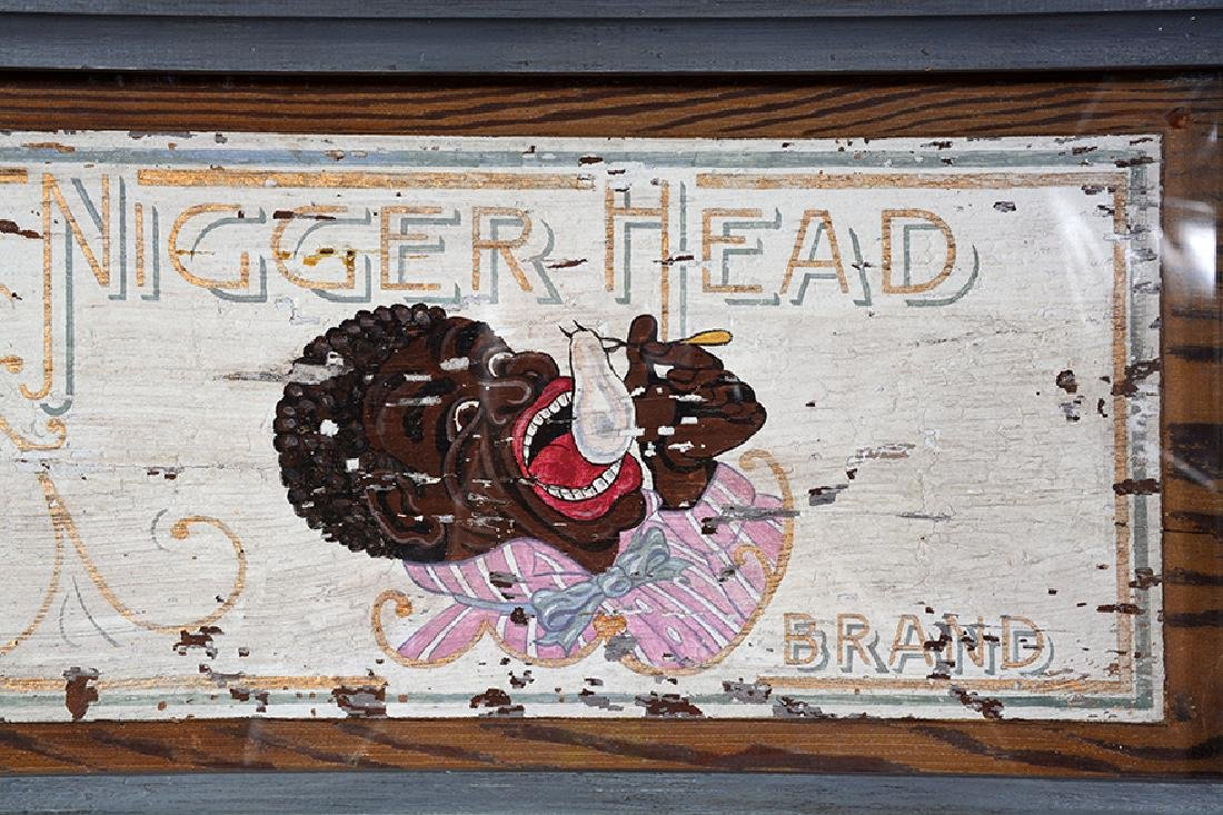 Nigger Head Raw Oysters Trade Sign. - 3
