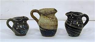 Reinhardt Pottery 3 Mini Souvenir Pitchers