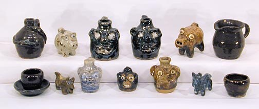 7: Marie Rogers 13 Mini Pottery Pieces