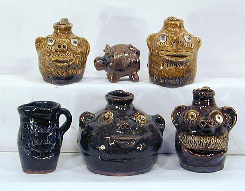 8: Marie Rogers 6 Mini Pottery Pieces