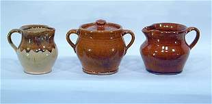Brown Pottery 3 Early Pieces