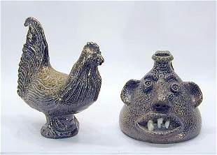 Jugtown Pottery Rooster and Buggy Jug