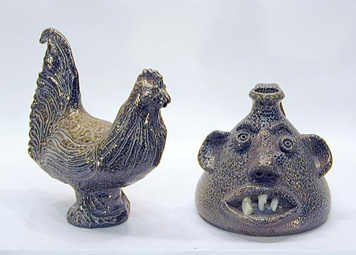 11: Jugtown Pottery Rooster and Buggy Jug
