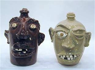 VonDoogulin & Cole Pair of Face Jugs