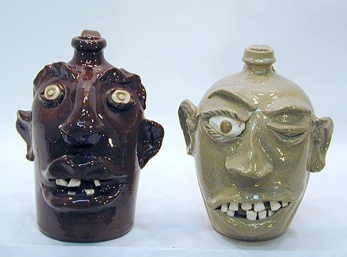 12: VonDoogulin & Cole Pair of Face Jugs