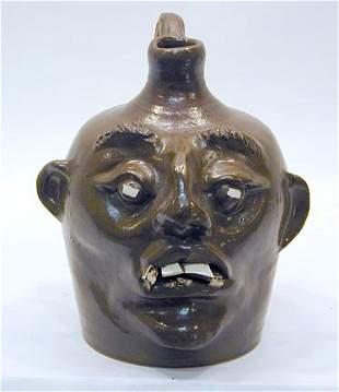 Ren Brukner Early Rare Face Jug