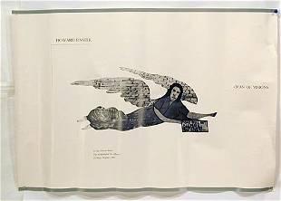 259: Howard Finster Dbl-sided Angel w Poster