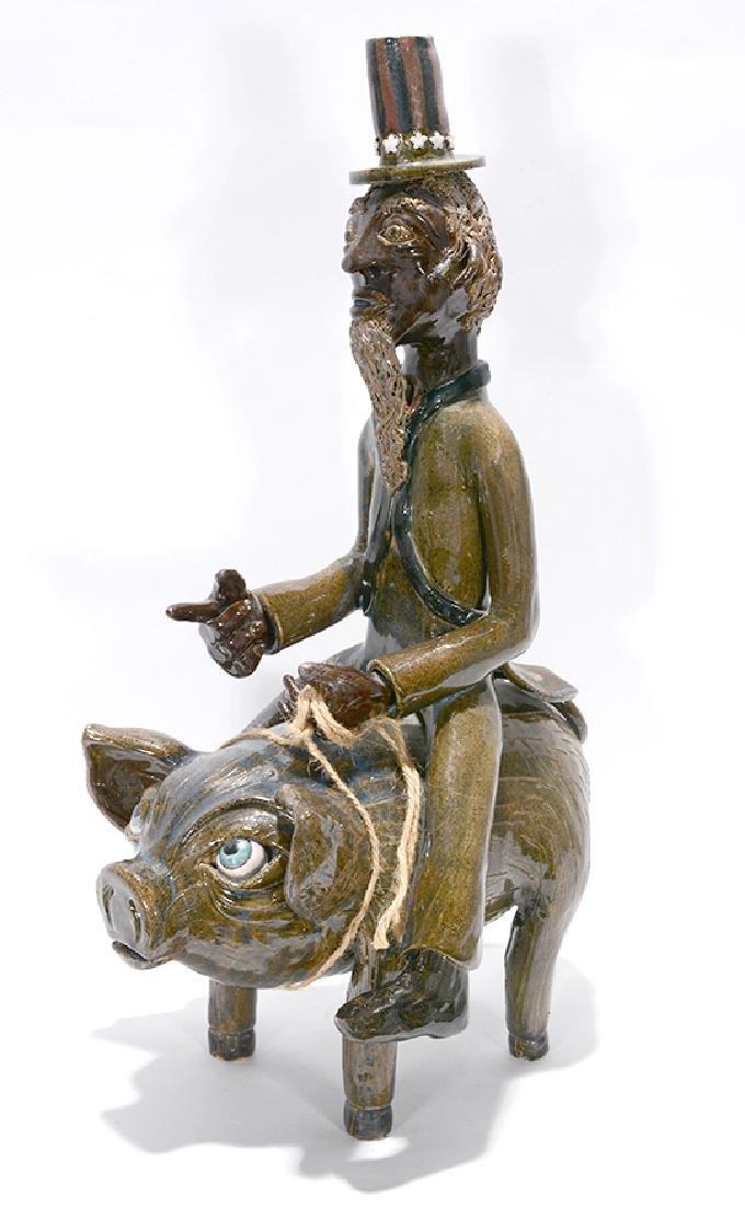 Lin Craven. Uncle Sam Riding A Pig.