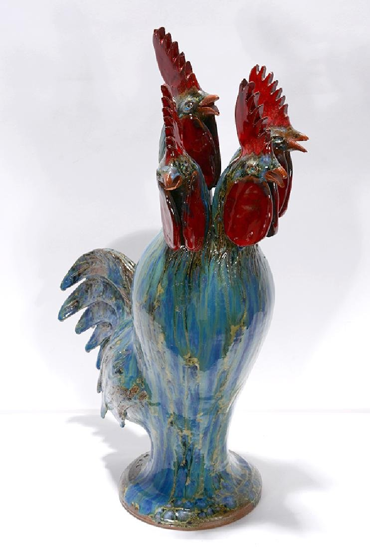 Charlie West. Rare 4-Headed Rooster.