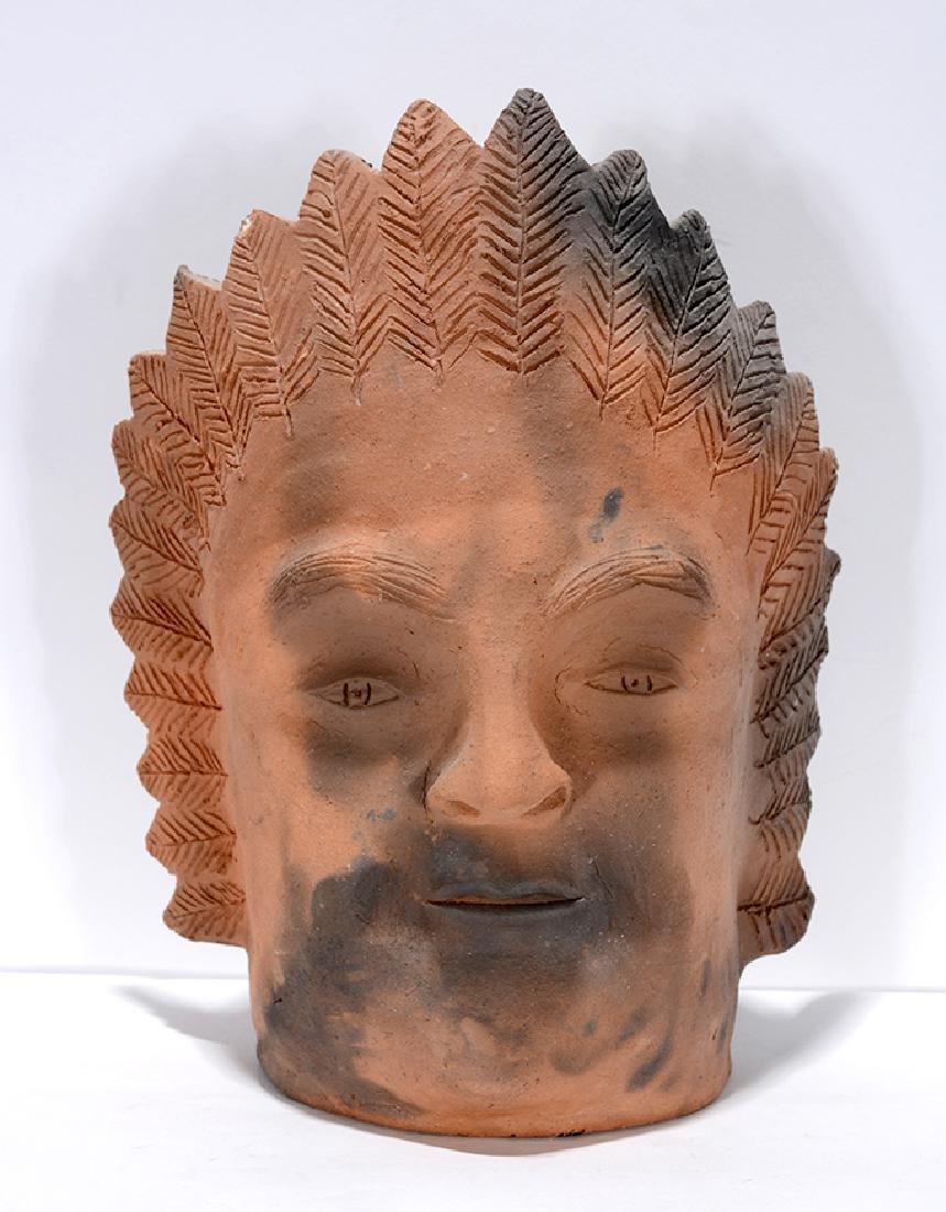Clint Alderman. Indian Chief Face Jug.