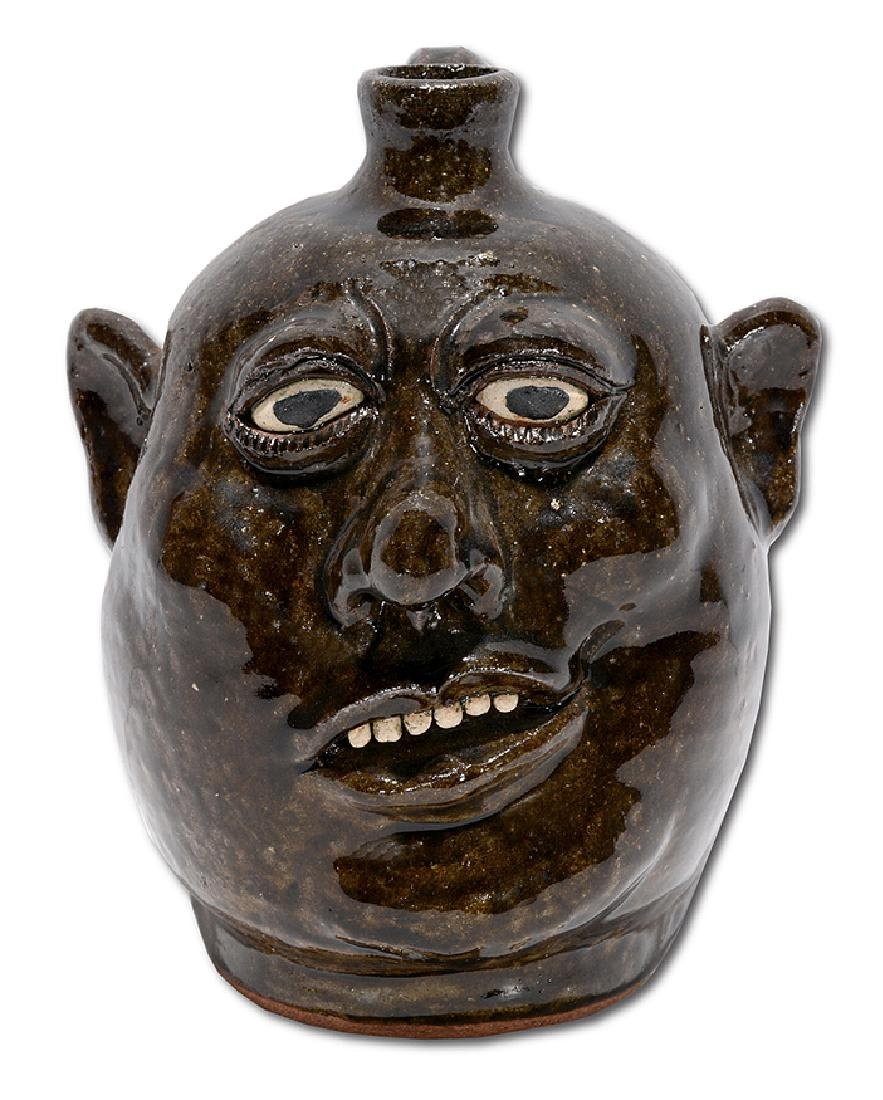 Lanier Meaders. Small Crooked Smiling Face Jug.