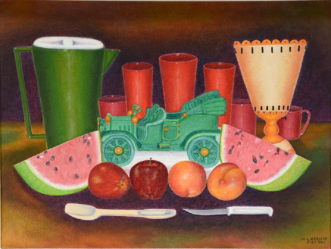 Mattie Lou O'Kelley. Still Life With Fruit & Green Toy