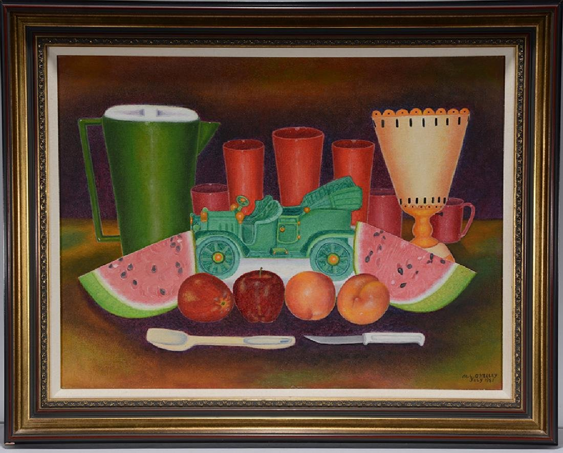 Mattie Lou O'Kelley. Still Life With Fruit & Green Toy - 2