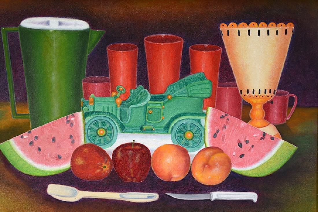 Mattie Lou O'Kelley. Still Life With Fruit & Green Toy - 3