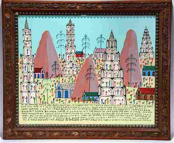 Howard Finster. In My Father's House Are Many Mansions.
