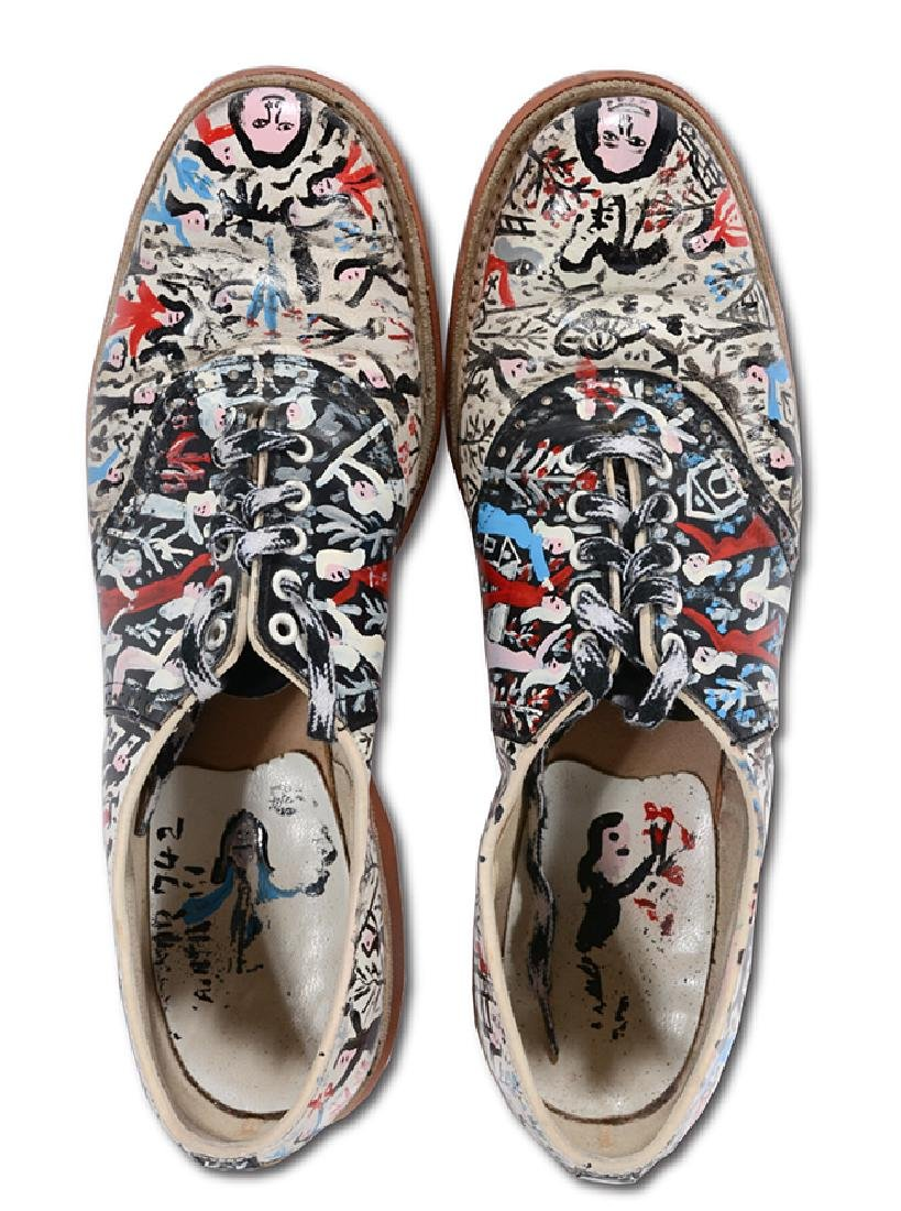 Howard Finster. Painted Mary Jane Shoes.
