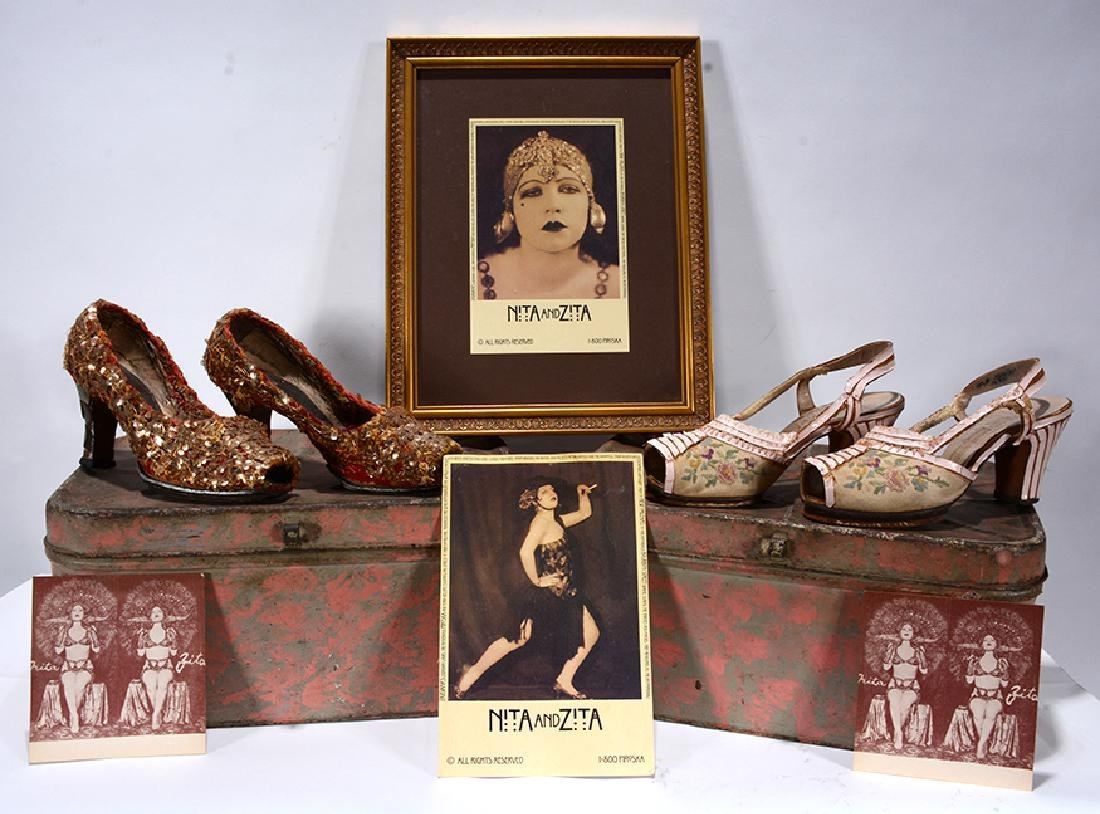 Nita & Zita Gellert. Exotic Dancers Shoes & Ephemera.