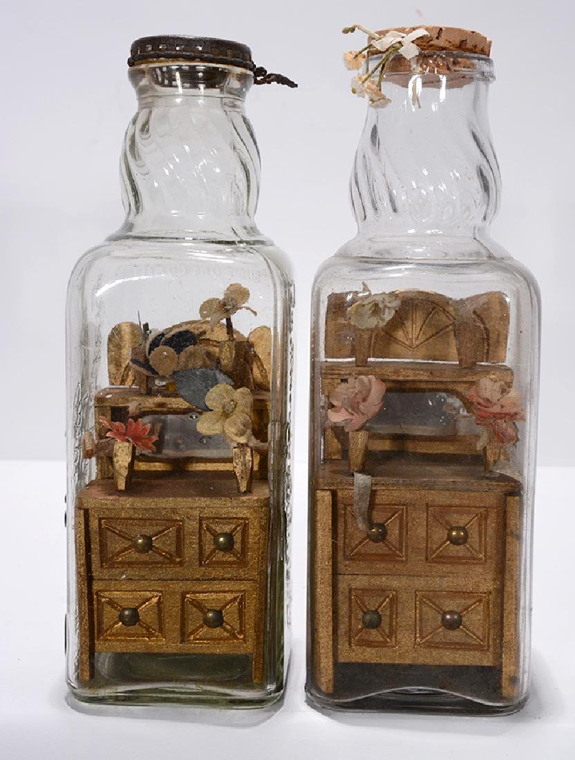 MHL. Dressers In Whiskey Bottles.