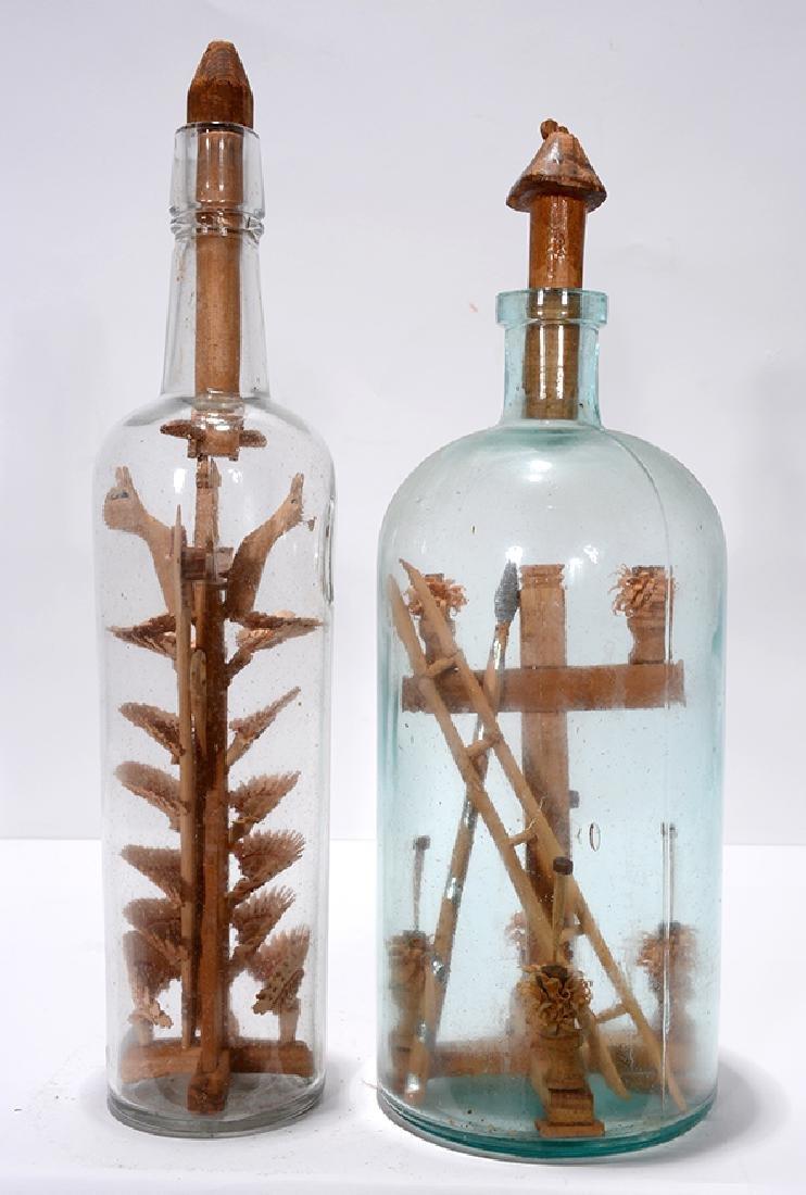 Birds On Fan Tree and Cross In A Bottle Whimseys.